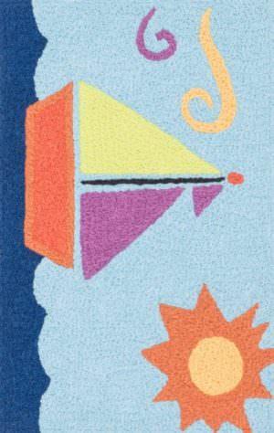 Loloi Angelou HAN01 Lt. Blue / Orange Rug