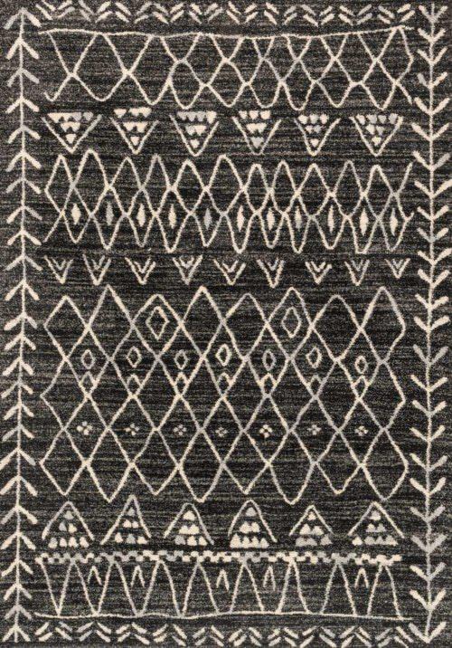 Loloi Emory EB-09 Black / Ivory Rug