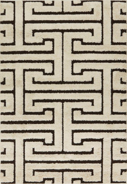 Loloi Enchant EN-28 Ivory / Dark Brown Rug