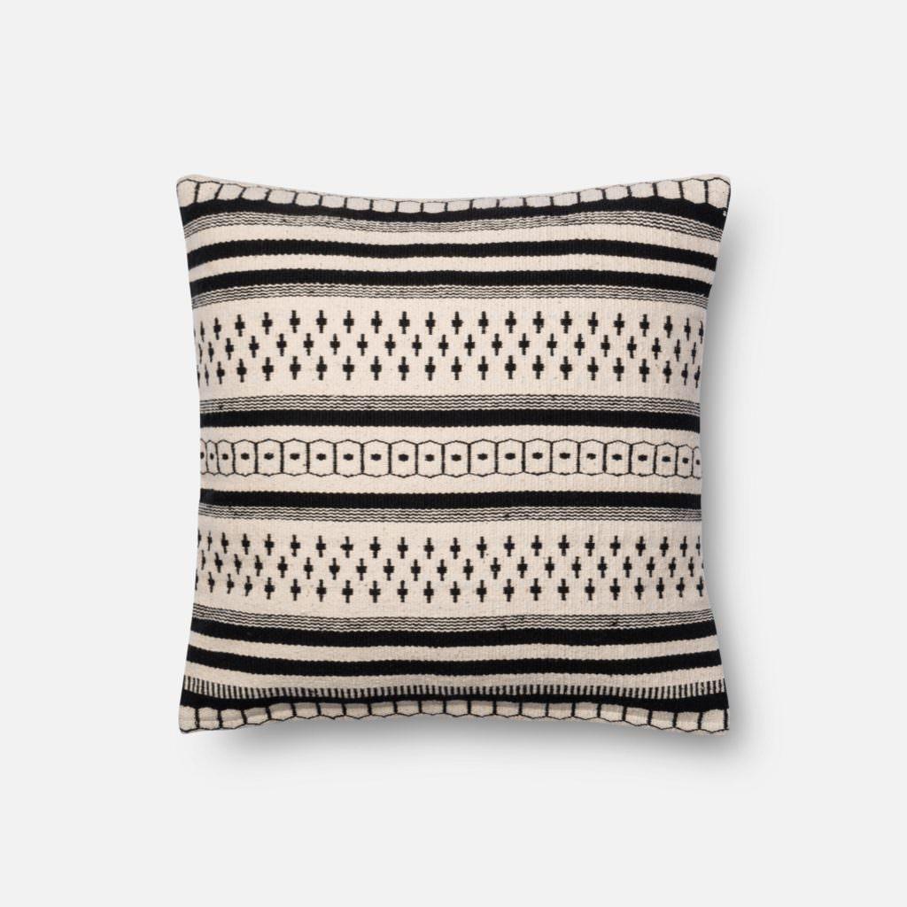Magnolia Home P1011 Black / White Pillow