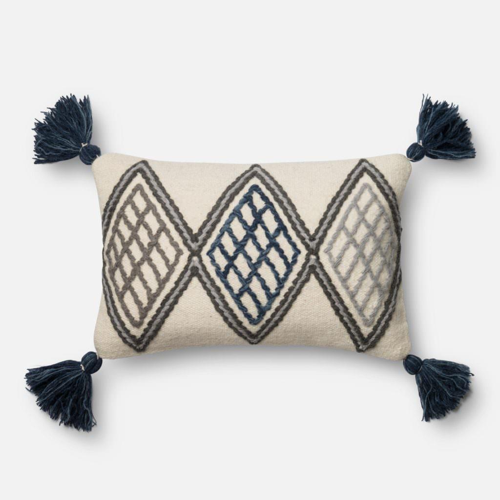 Magnolia Home P0425 Blue / Ivory Pillow