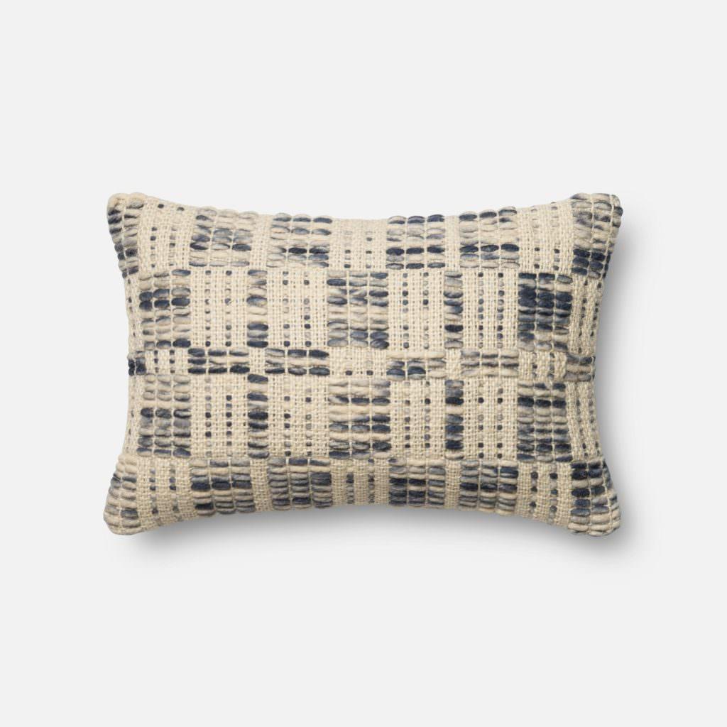 Magnolia Home P0426 Blue / Ivory Pillow