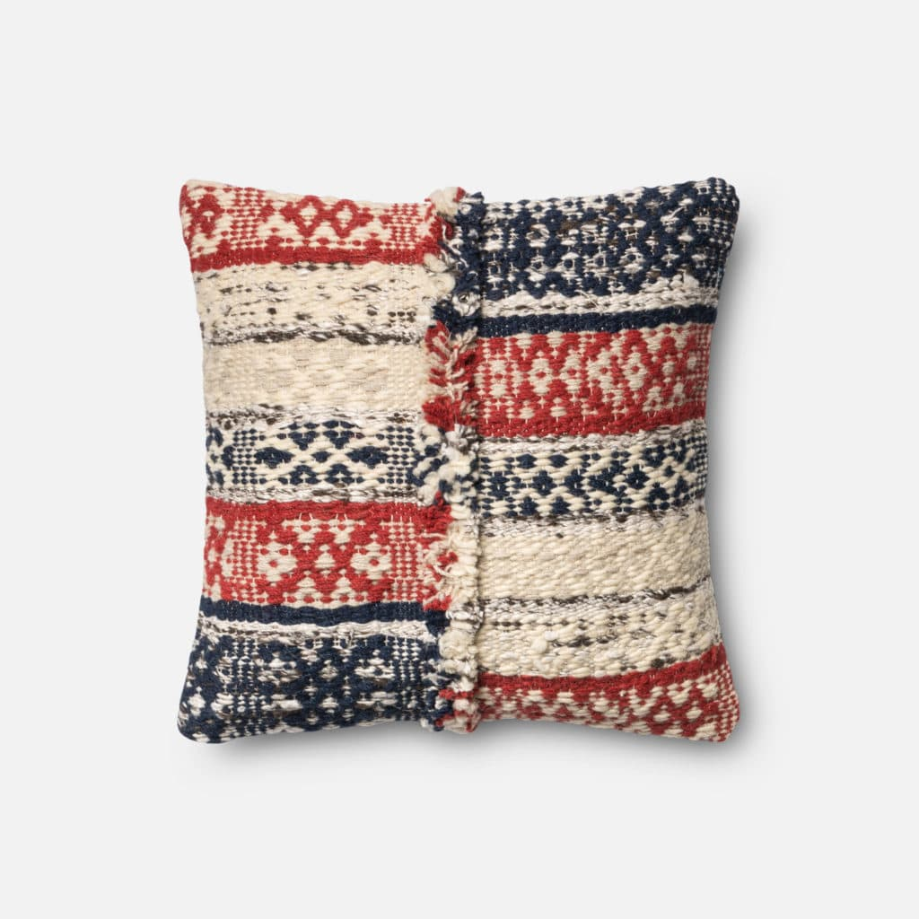 Loloi POLY SET P0377 Red / Blue Rug
