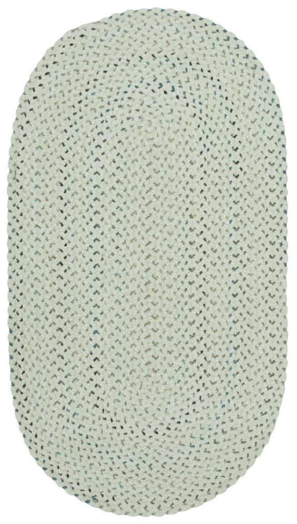 Capel Dramatic Static 600 Cyber White Braided Rug