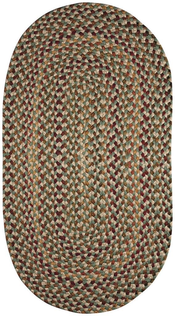 Capel Nu-Way 200 Green Braided Rug
