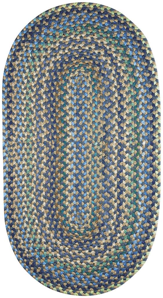 Capel Nu-Way 400 Blue Braided Rug