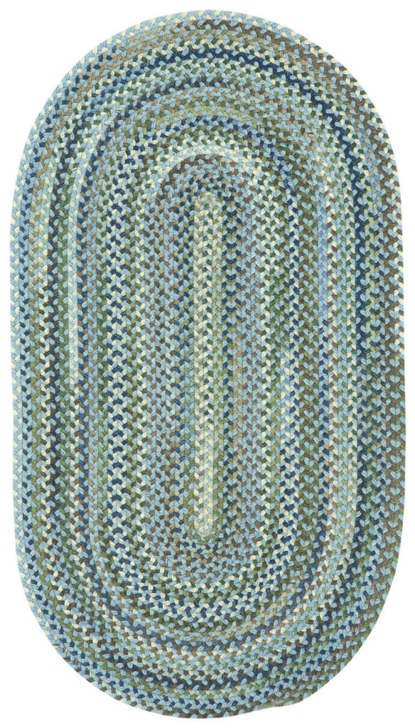Capel Homecoming 400 Sky Blue Braided Rug