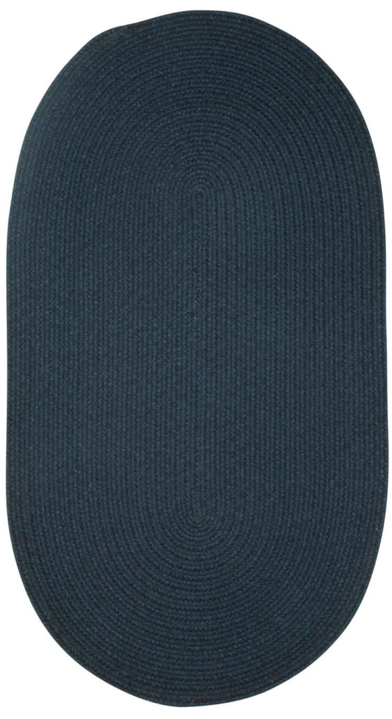 Capel Heathered 480 Pinwheel Navy Blue Solid Braided Rug