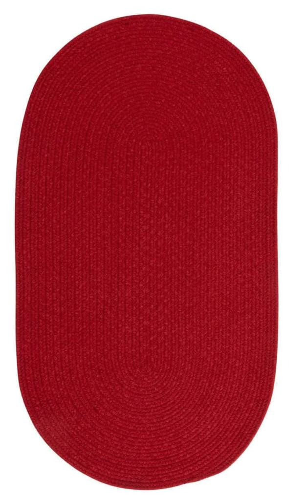 Capel Heathered 530 Scarlet Red Solid Braided Rug