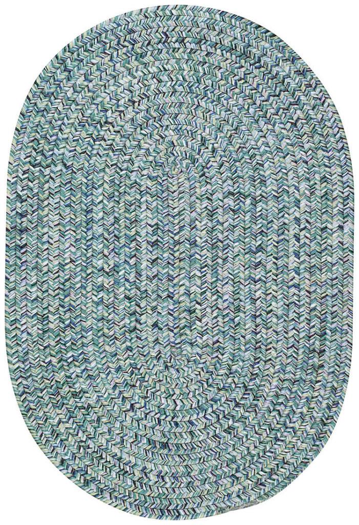 Capel Sea Glass 400 Ocean Blue Braided Rug