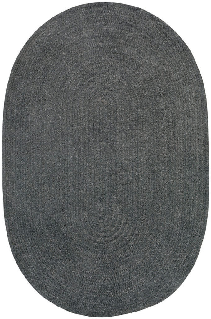 Capel Chenille Creations 350 Charcoal Braided Rug