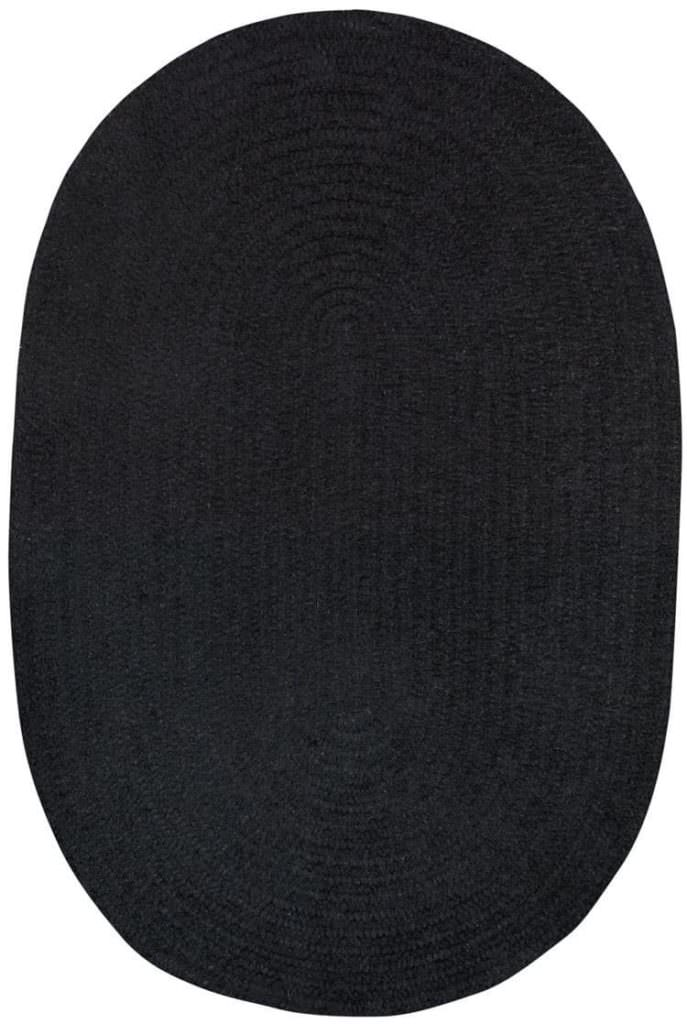 Capel Chenille Creations 390 Shadow Blk Braided Rug