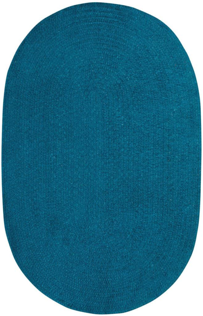 Capel Chenille Creations 460 Dark Teal Braided Rug
