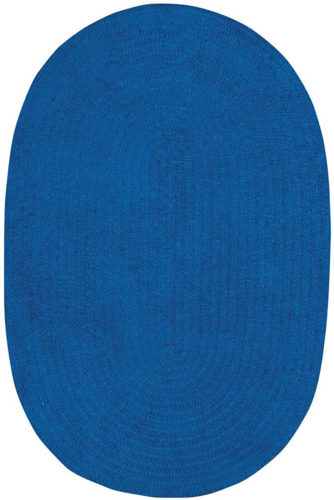Capel Chenille Creations 465 Naut Blue Braided Rug