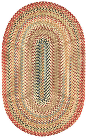 Capel Americana 100 Lt. Gold Braided Rug