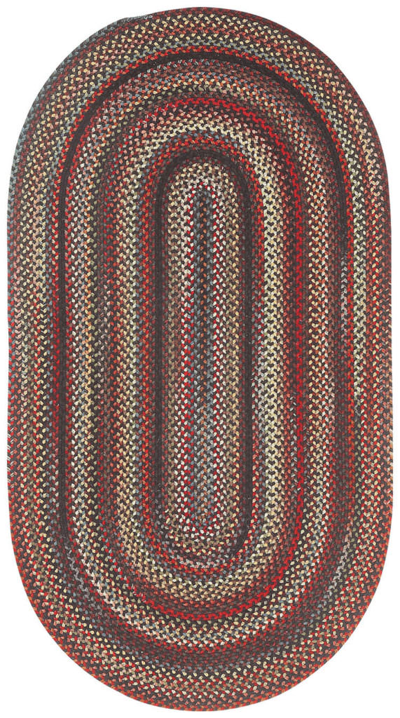 Capel Americana 300 Black Braided Rug