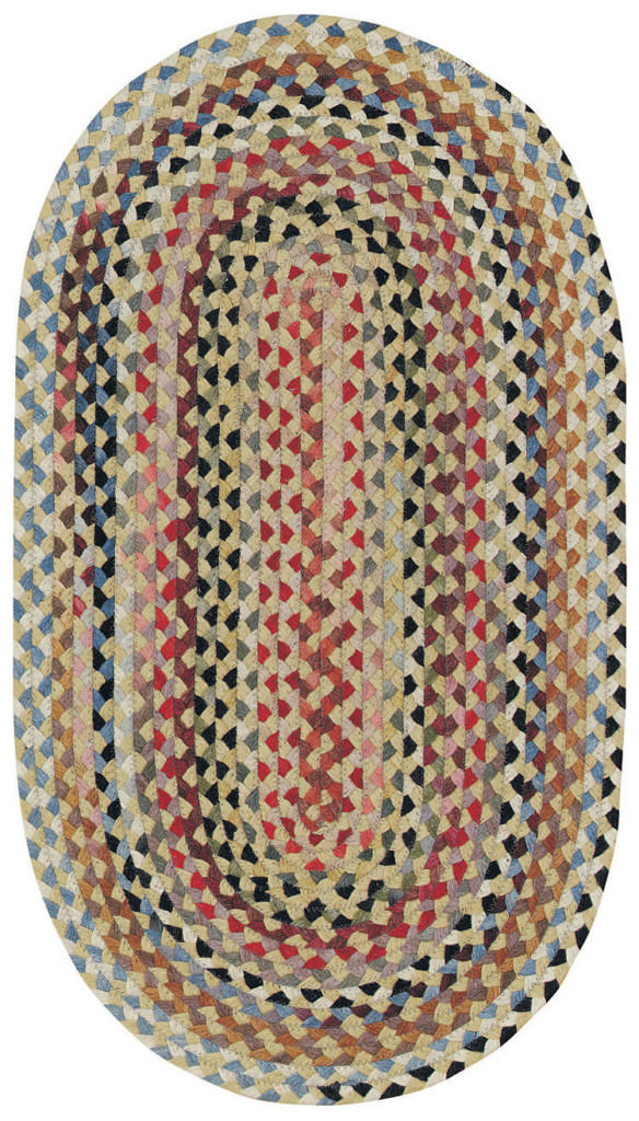 Capel Plymouth 100 Light Gold Braided Rug