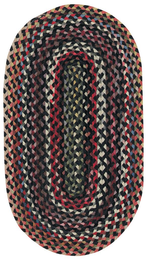 Capel Plymouth 300 Black Braided Rug