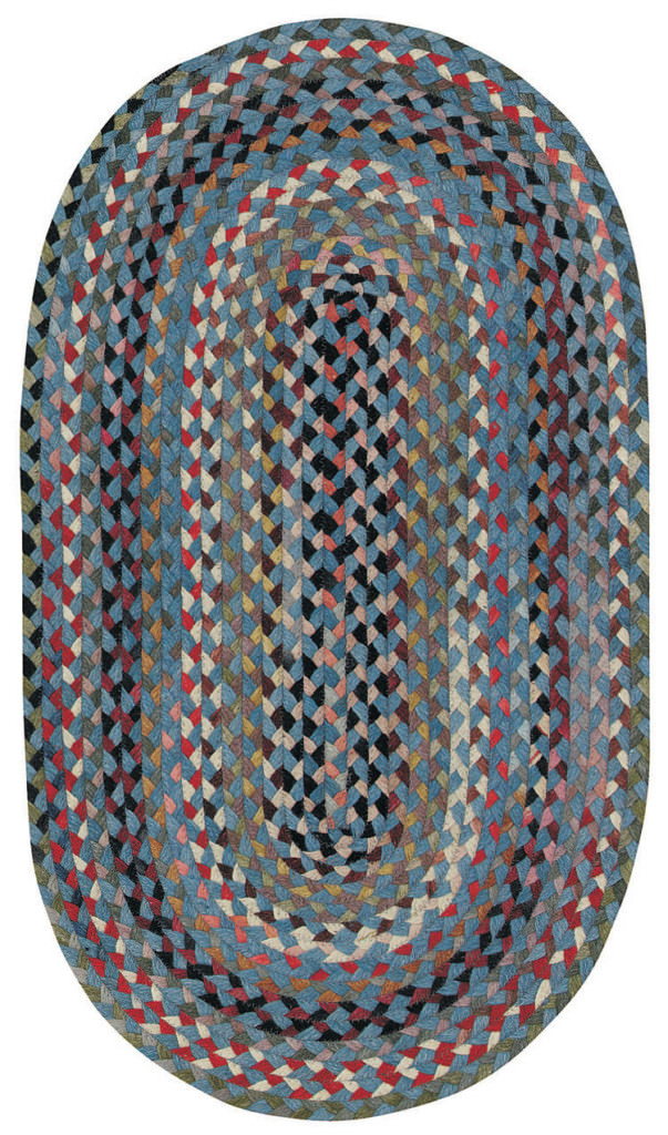 Capel Plymouth 400 Colony Blue Braided Rug