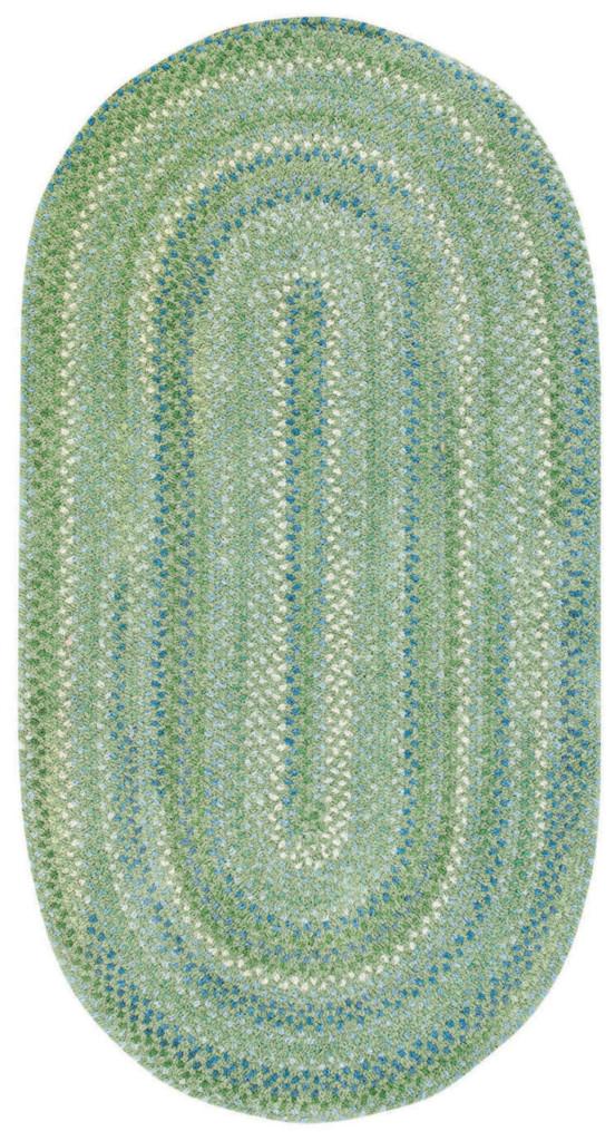 Capel Sailor Boy 200 Sea Monster Green Braided Rug