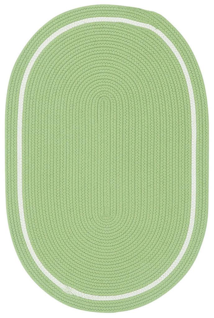 Capel Garden Party 200 Leaf Green Braided Rug