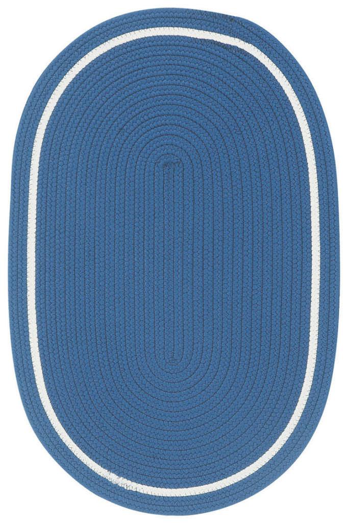 Capel Garden Party 475 Cobalt Blue Braided Rug