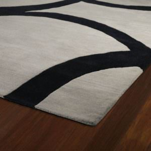 Kaleen Astronomy Gamma-01 Graphite Rug Close-Up