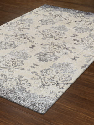 Dalyn Antigua AN11 Pewter Rug Floor View