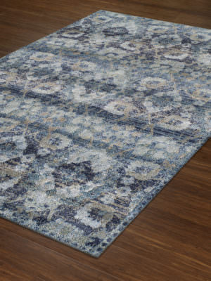 Dalyn Antigua AN5 Navy Rug Floor View