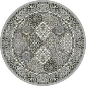 """Dynamic Ancient Garden 7'-10"""" x 7'-10"""" Round 57008-9696 Cream / Grey Rug"""