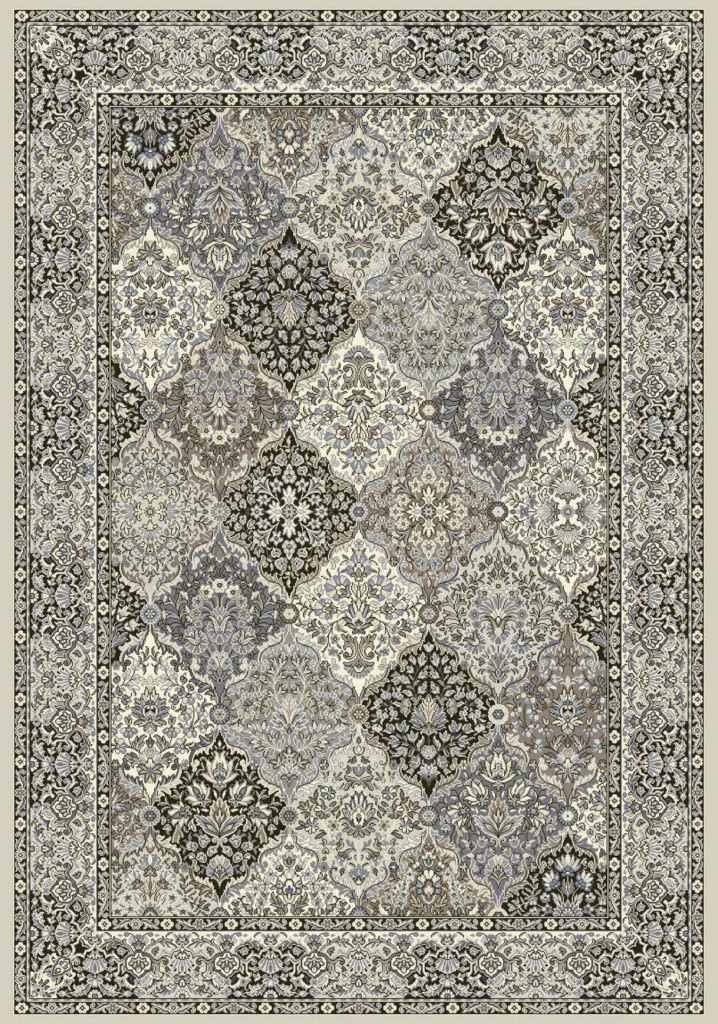 "Dynamic Ancient Garden 9'-2"" x 12'-10"" 57008-9696 Cream / Grey Rug"