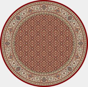 "Dynamic Ancient Garden 7'-10"" x 7'-10"" Round 57011-1414 Red / Ivory Rug"