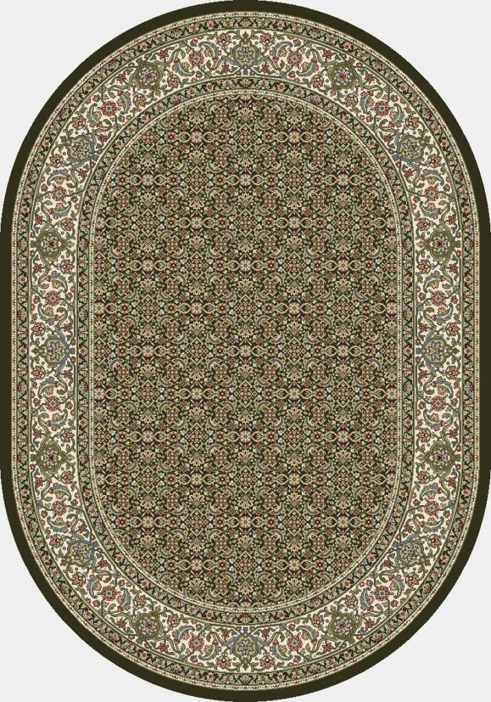 "Dynamic Ancient Garden 6'-7"" x 9'-6"" Oval 57011-3263 Black / Ivory Rug"