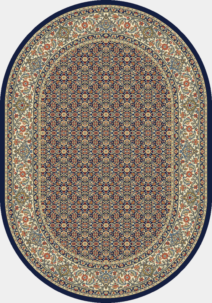 "Dynamic Ancient Garden 6'-7"" x 9'-6"" Oval 57011-3464 Navy Rug"