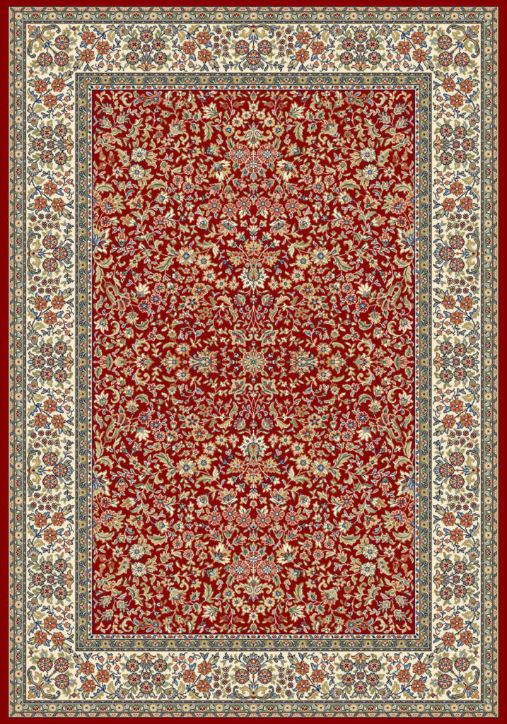 "Dynamic Ancient Garden 9'-2"" x 12'-10"" 57078-1414 Red / Ivory Rug"
