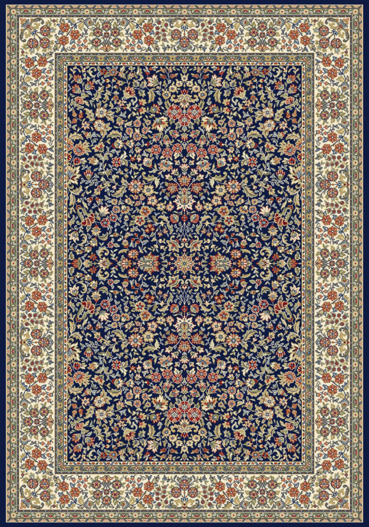 "Dynamic Ancient Garden 9'-2"" x 12'-10"" 57078-3434 Blue / Ivory Rug"