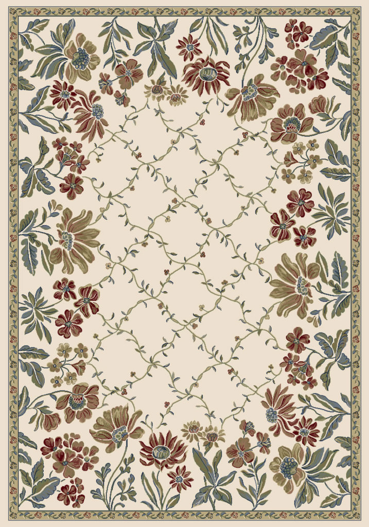 "Dynamic Ancient Garden 9'-2"" x 12'-10"" 57084-6464 Ivory Rug"