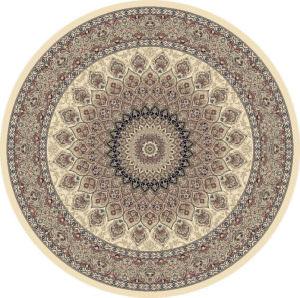 """Dynamic Ancient Garden 7'-10"""" x 7'-10"""" Round 57090-6484 Ivory Rug"""