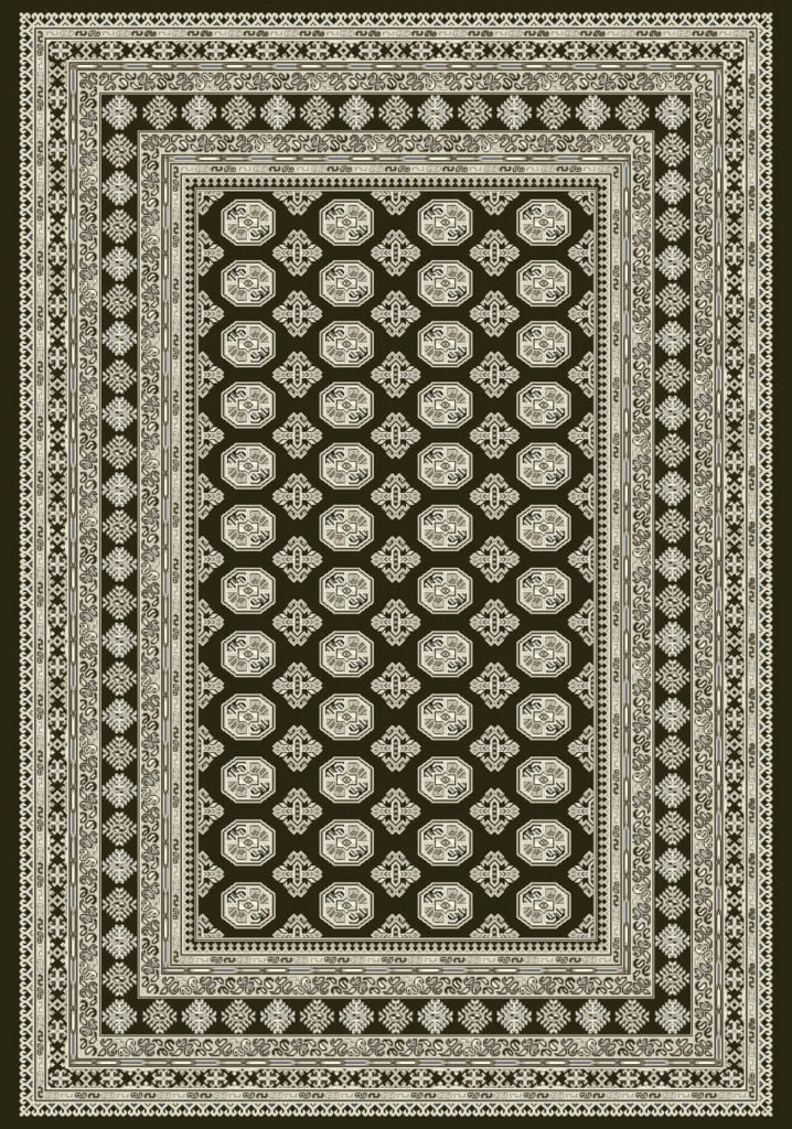 "Dynamic Ancient Garden 9'-2"" x 12'-10"" 57102-3636 Charcoal / Silver Rug"