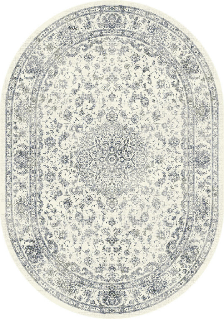 "Dynamic Ancient Garden 6'-7"" x 9'-6"" Oval 57109-6666 Cream Rug"