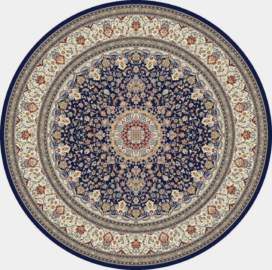 "Dynamic Ancient Garden 7'-10"" x 7'-10"" Round 57119-3434 Blue / Ivory Rug"
