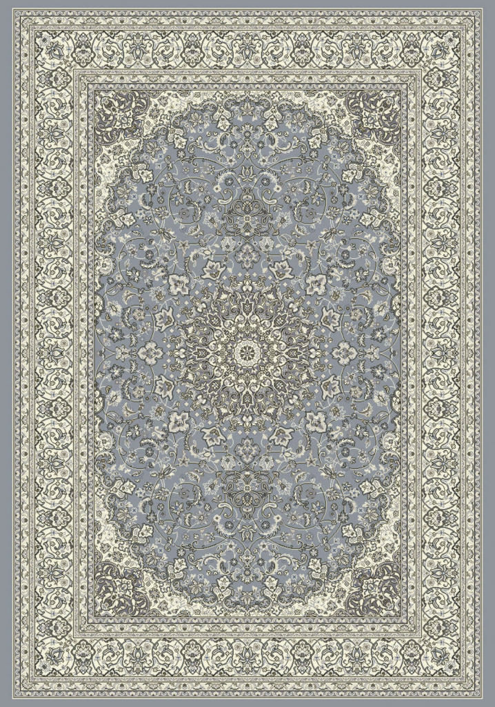"Dynamic Ancient Garden 9'-2"" x 12'-10"" 57119-4646 Steel Blue / Cream Rug"