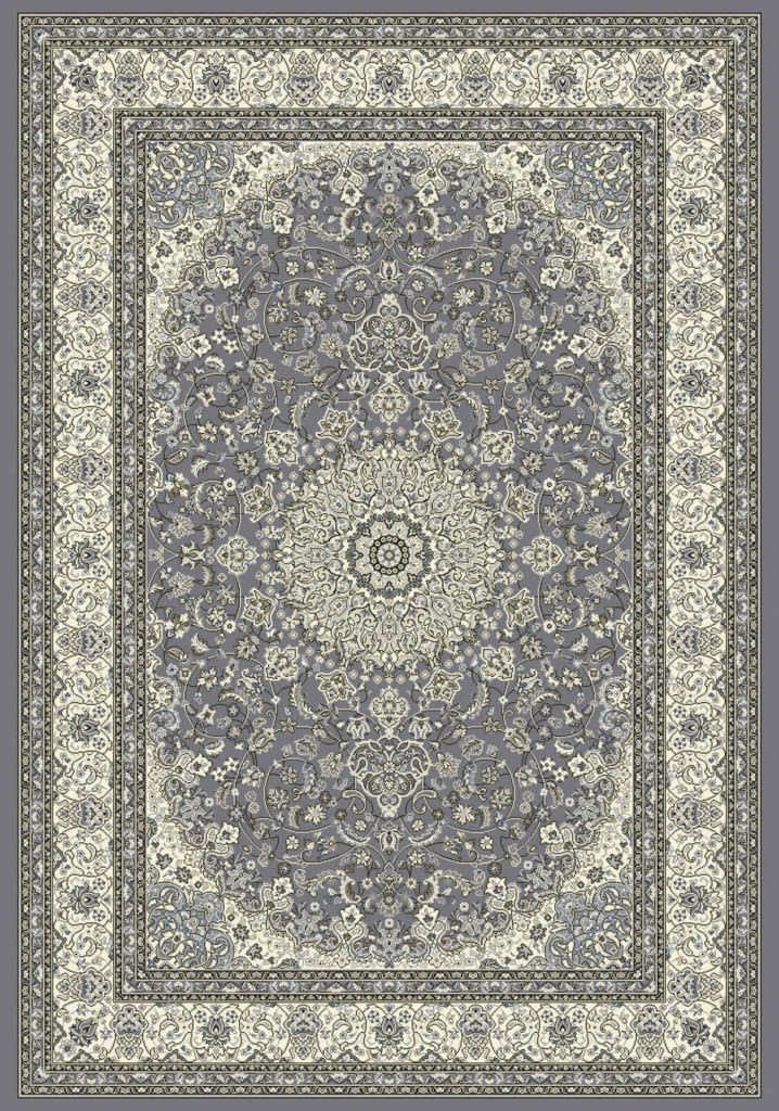 "Dynamic Ancient Garden 9'-2"" x 12'-10"" 57119-5666 Grey / Cream Rug"
