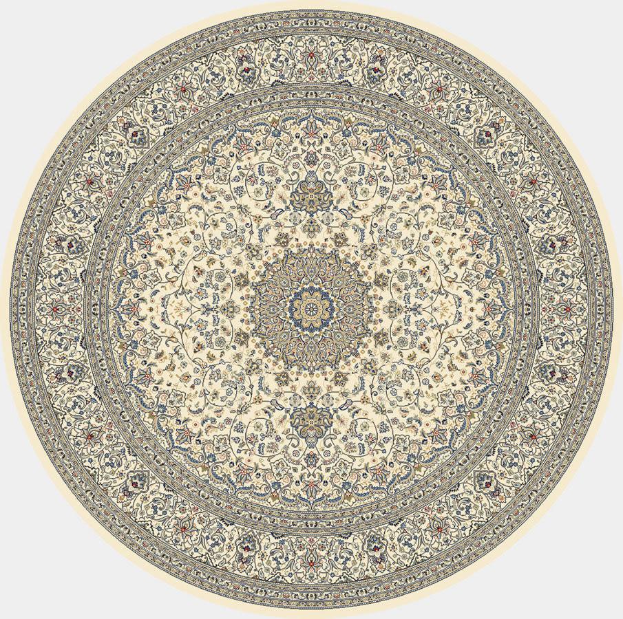 """Dynamic Ancient Garden 7'-10"""" x 7'-10"""" Round 57119-6464 Ivory Rug"""