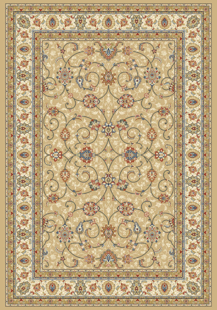 "Dynamic Ancient Garden 9'-2"" x 12'-10"" 57120-2464 Lt. Gold / Ivory Rug"