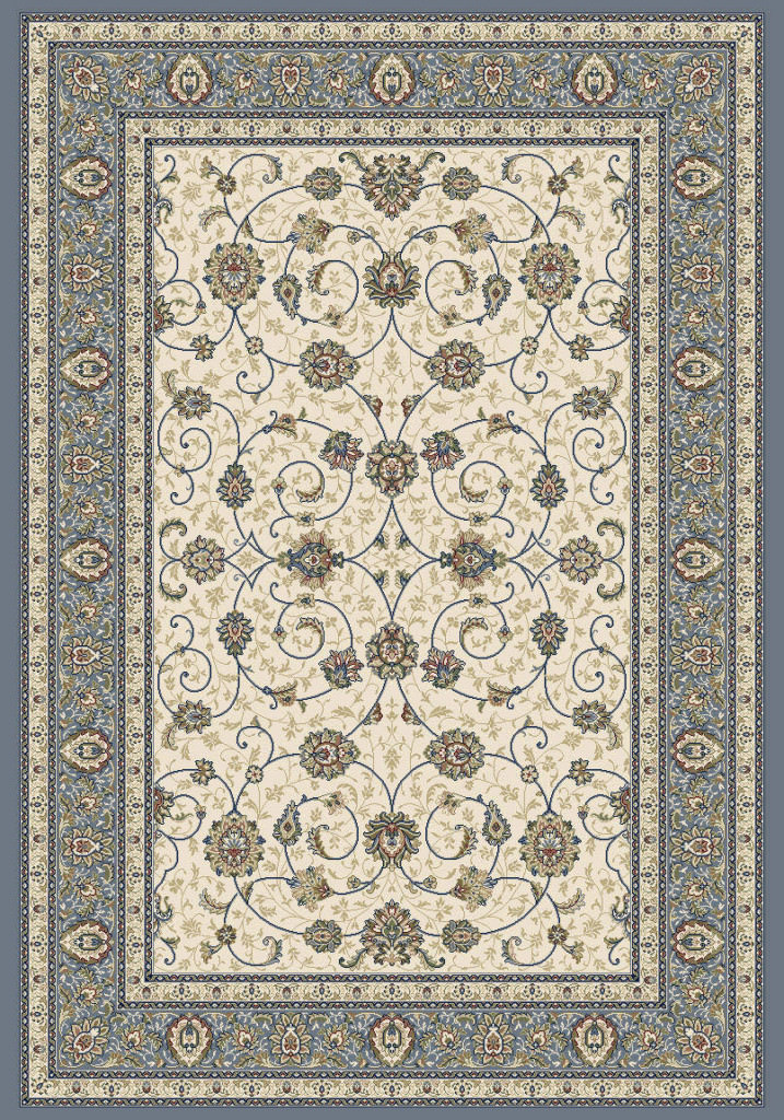 "Dynamic Ancient Garden 9'-2"" x 12'-10"" 57120-6454 Ivory / Lt. Blue Rug"
