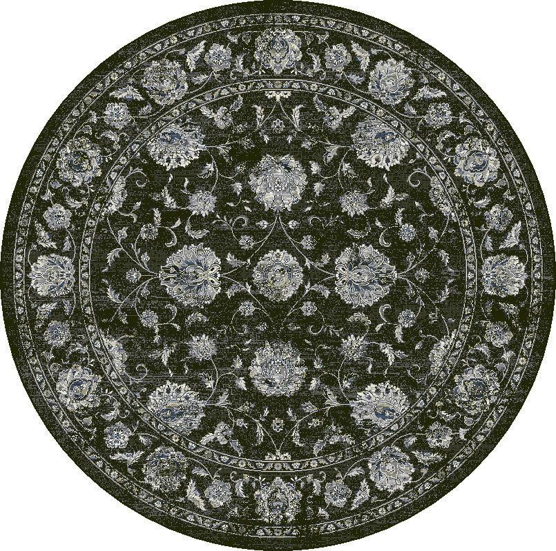 """Dynamic Ancient Garden 7'-10"""" x 7'-10"""" Round 57126-3636 Cream / Grey Rug"""