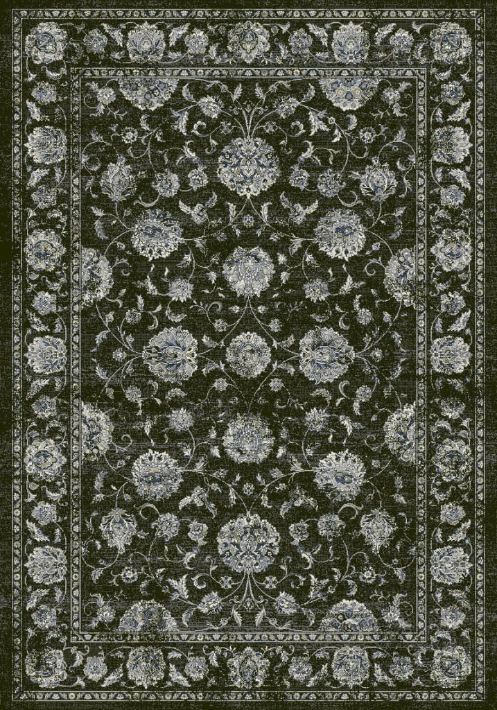 "Dynamic Ancient Garden 9'-2"" x 12'-10"" 57126-3636 Charcoal / Silver Rug"