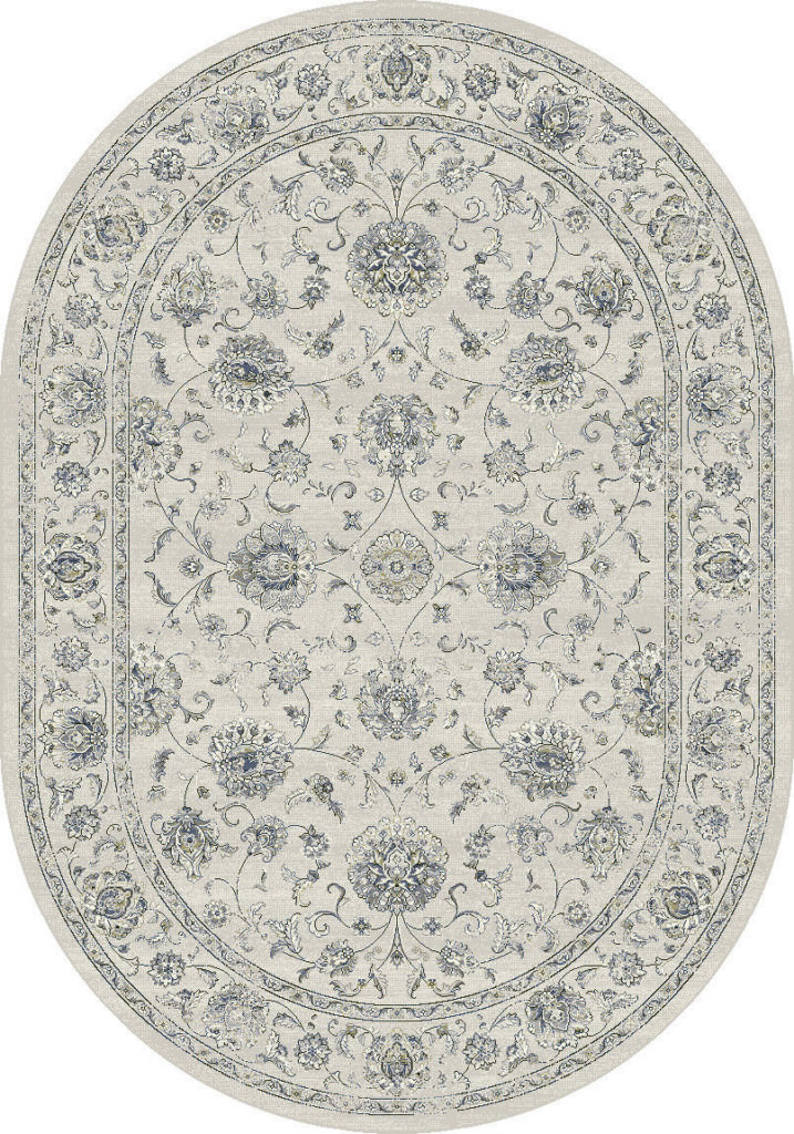 "Dynamic Ancient Garden 6'-7"" x 9'-6"" Oval 57126-6666 Cream Rug"