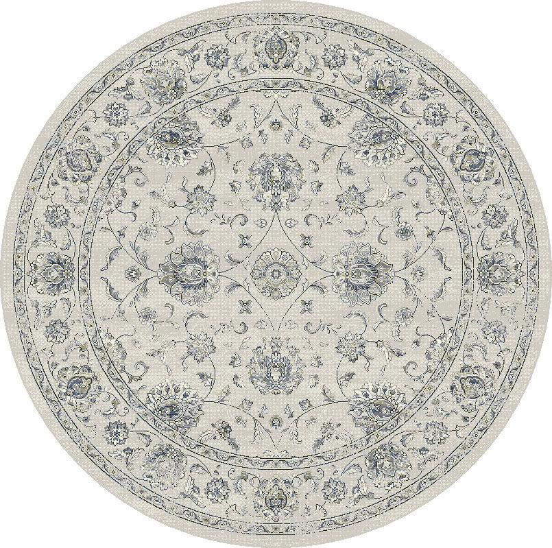 """Dynamic Ancient Garden 7'-10"""" x 7'-10"""" Round 57126-6666 Cream / Grey Rug"""